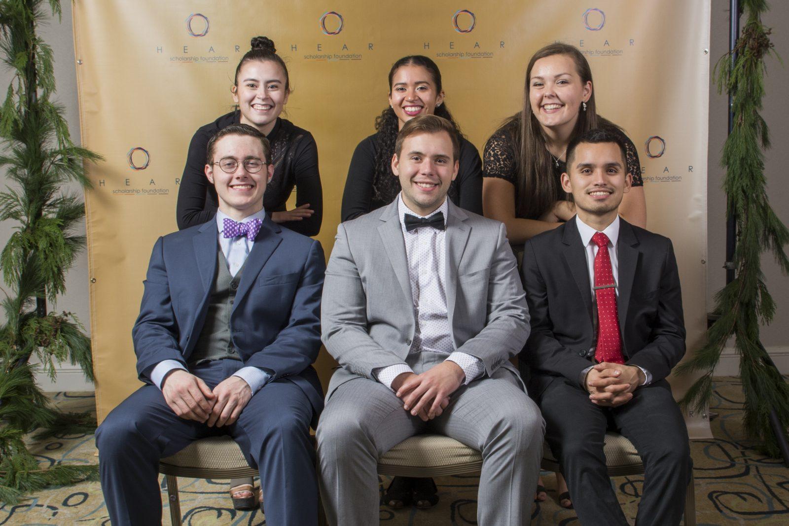 HEAR Scholars at the 2016 HEAR Holiday Fundraiser.