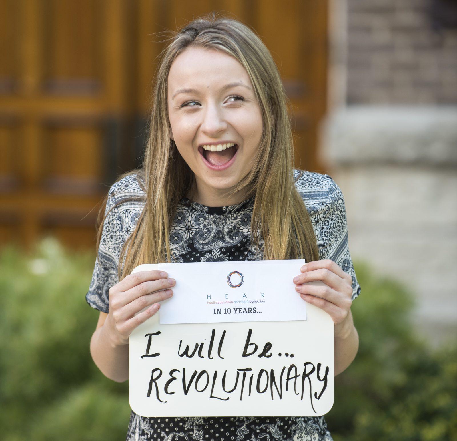 """Claudia Szarflaski """"In 10 years .... I will be Revolutionary"""""""