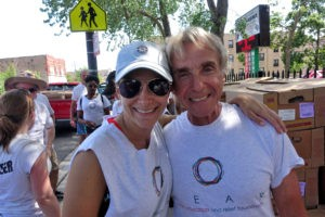 Karoline and Ray during the HEAR Feeds Volunteer Day, June 11