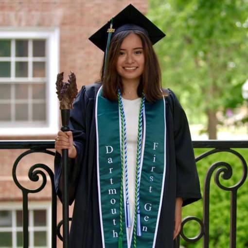A graduation celebration from 2021 HEAR Graduate Lesley M.